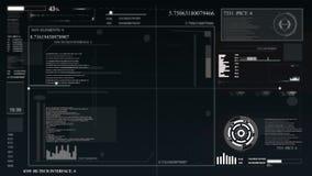HUD per un'applicazione gestionale Interfaccia utente futuristica dell'interfaccia grafica virtuale, degli elementi infographic e illustrazione di stock