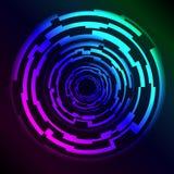 HUD Rings de alta tecnología con efecto del plasma stock de ilustración