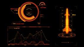 HUD Rocket Missile Interface Graphic Element arancio royalty illustrazione gratis