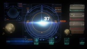 HUD Scifi stock video footage