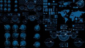 HUD Scifi Royalty Free Stock Images