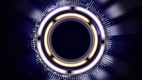 HUD Spectrum Animation, Abstract Technology Concept, Sniper Scope, Rendering, Background, Loop stock footage