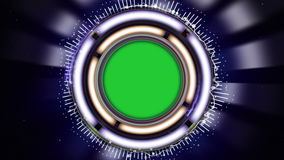 HUD Spectrum Animation, Abstract Technology Concept, Sniper Scope, Rendering, Background, Loop stock video footage