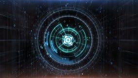 Hud Target futurista com a tela dos dados do computador ilustração do vetor