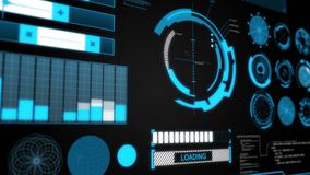Hud Target futuristico video d archivio