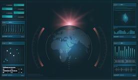 HUD Technika futurystyczny pokaz Technika i nauka, analiza temat zdjęcia royalty free