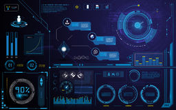 Hud technology innovation screen interface template and element design background Stock Photo