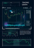 HUD UI für Geschäfts-APP Stockfotografie