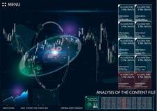 HUD UI für Geschäfts-APP Lizenzfreies Stockfoto