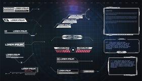 Free HUD, UI, GUI Futuristic User Interface Screen Elements Set. High Tech Screen For Video Game. Sci-fi Concept Design Stock Photo - 181955280