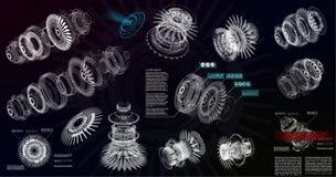 HUD UI pour l'APP Modèle 3d moderne illustration de vecteur