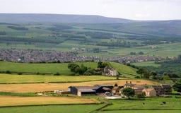 Huddersfield dalla collina del castello Immagine Stock