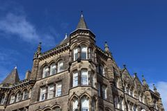 Huddersfield, UK. Town in Kirklees region of West Yorkshire. Old architecture Stock Image