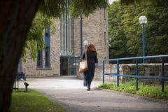 Huddersfield, Zachodni - Yorkshire, UK, Pa?dziernik 2013, widok Lockside budynek przy uniwersytetem Huddersfield obrazy stock