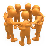 Huddle. People together forming a huddle Royalty Free Stock Photo