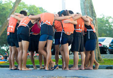 Huddle Before Race Stock Photography
