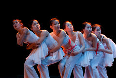 Huddled together for warmth--Chinese folk dance Royalty Free Stock Image