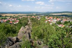 Hudlice, Czech republic. Village Hudlice near Beroun, Central Bohemia, Czech republic Royalty Free Stock Photos