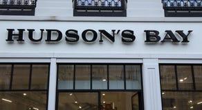 Hudson湾零售店的门面在阿姆斯特丹 库存图片