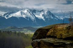 Hudson Bay Mountain - Rocky Outcrop East imagem de stock royalty free