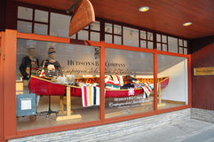 Hudson- Bayfirma, Banff-Allee Stockfotografie