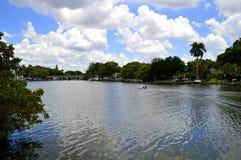 Hudson Bayou i Sarasota Arkivbilder