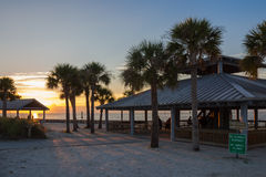 Hudson Beach. In Florida during a sunset Royalty Free Stock Photography