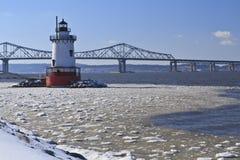 Hudson et phare glacials Image libre de droits