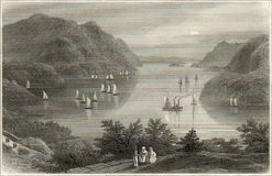 Hudson etching Stock Photography