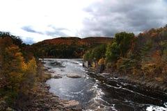 Hudson-Fluss- Adirondack Berge Lizenzfreies Stockbild