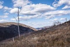 Hudson Highland Hillside och moln arkivfoton