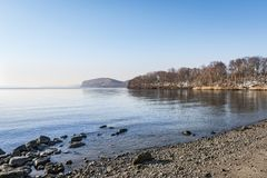 Hudson przy Croton punktem, Nowy Jork Obrazy Stock