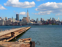 Hudson River 02. A view of Manhattan across the Hudson River Royalty Free Stock Image