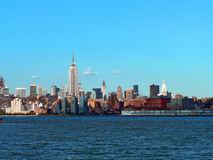 Hudson River 08. A view of Midtown Manhattan across the Hudson River Stock Photo