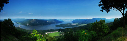 Hudson River. From the Bear Mountain, New York Stock Photography