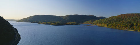 Hudson River. George W. Perkins Memorial Drive in Bear Mountain State Park, Hudson River Valley, New York Stock Photo