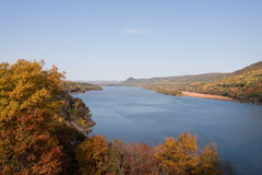 Hudson River. View of the Hudson River looking north from the Bear Mountain Bridge Stock Photos