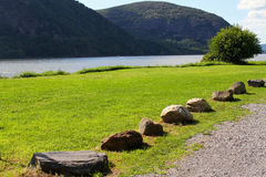 Hudson River. Beautiful waterfront of the Hudson River in Cold Spring, New York state Royalty Free Stock Photo