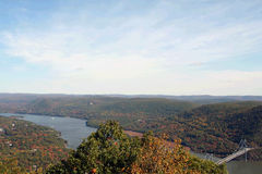 Hudson River. Valley as seen from the top of Bear Mountain Royalty Free Stock Photos