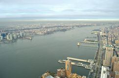 Hudson River - aerial view. Royalty Free Stock Images