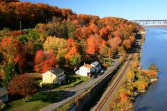 Hudson River Autumn Royalty Free Stock Photography