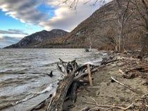 Hudson River balayé par le vent Photos stock