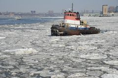 Hudson River bogserbåt arkivfoton