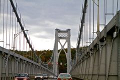 Hudson River Bridge Royalty Free Stock Photo