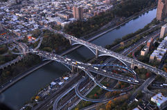 Hudson River bridges aerial Royalty Free Stock Photos