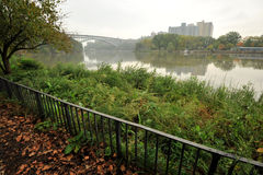 Hudson River Bronx NYC royalty-vrije stock foto