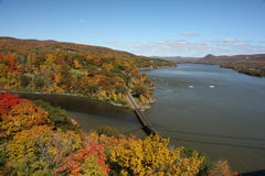 hudson river fall vista Royalty Free Stock Photo