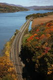 Hudson river fall vista Stock Image
