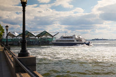 Hudson River Ferry in Battery Park, New York Stock Images