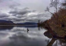 Hudson River fumoso Fotografia Stock Libera da Diritti